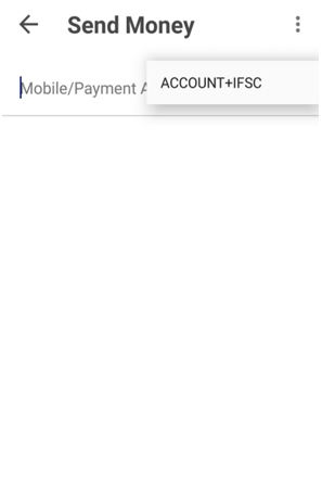 Send payment method IFSC